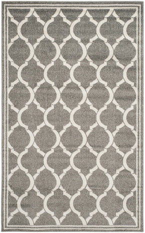 Amherst Contemporary Indoor Area Rug Dark Grey / Beige