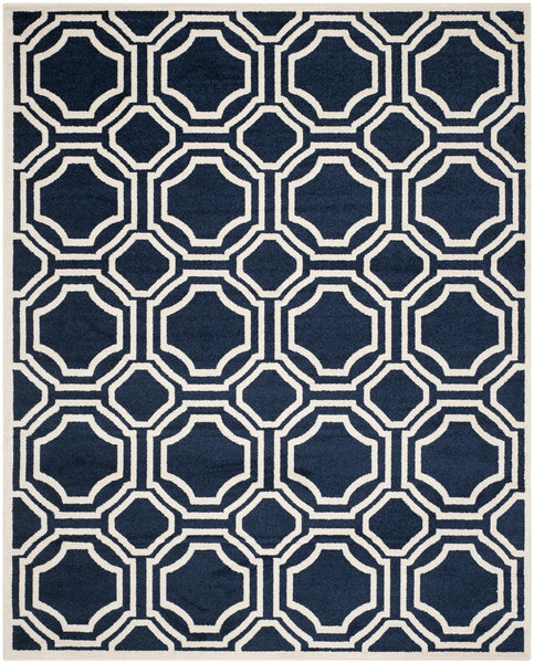 Blues, Ivory & Whites, Rugs - Safavieh AMT411P-24 Amherst Contemporary Indoorarea Rug Navy / Ivory | 683726434788 | Only $39.80. Buy today at http://www.contemporaryfurniturewarehouse.com