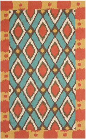 Four Seasons Country & Floral Indoor/outdoorarea Rug Light Blue / Red