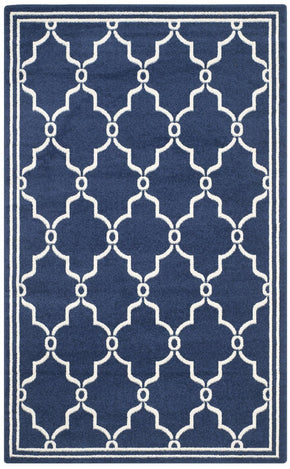 Amherst Contemporary Indoor Area Rug Navy / Beige
