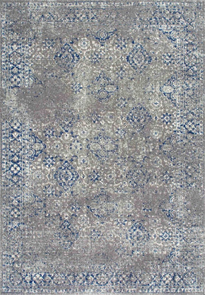 Nuloom Distressed Mabelle Dark Blue Rug