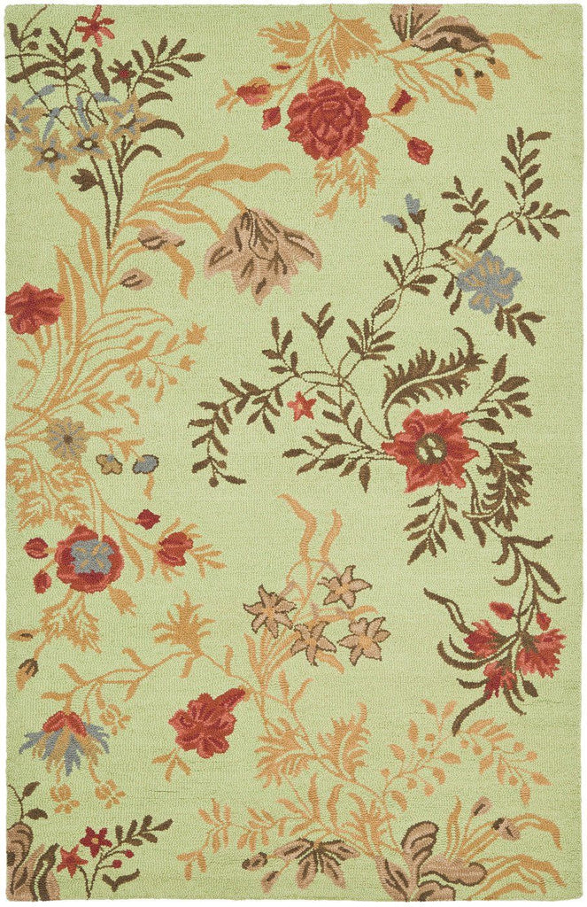 Picture of: Buy Safavieh Blm919a 28 Blossom Country Floral Indoor Area Rug Light Green Multi At Contemporary Furniture Warehouse