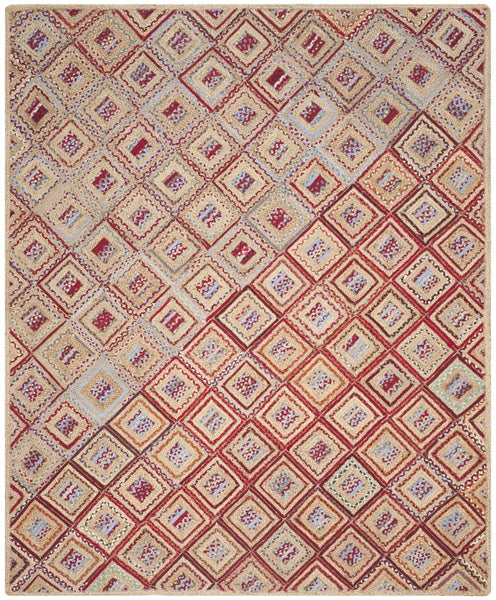 Cape Cod Traditional Indoorarea Rug Natural / Red