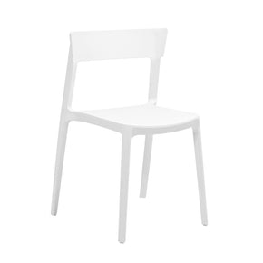 Dining Chairs - Design Lab MN LS-9604-WHT Rho White Modern Stackable Side Chair (Set of 4) | 646263991107 | Only $264.80. Buy today at http://www.contemporaryfurniturewarehouse.com