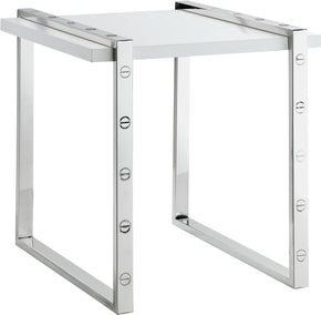 Meridian Furniture 271-E Amore Chrome End Table 704831400236