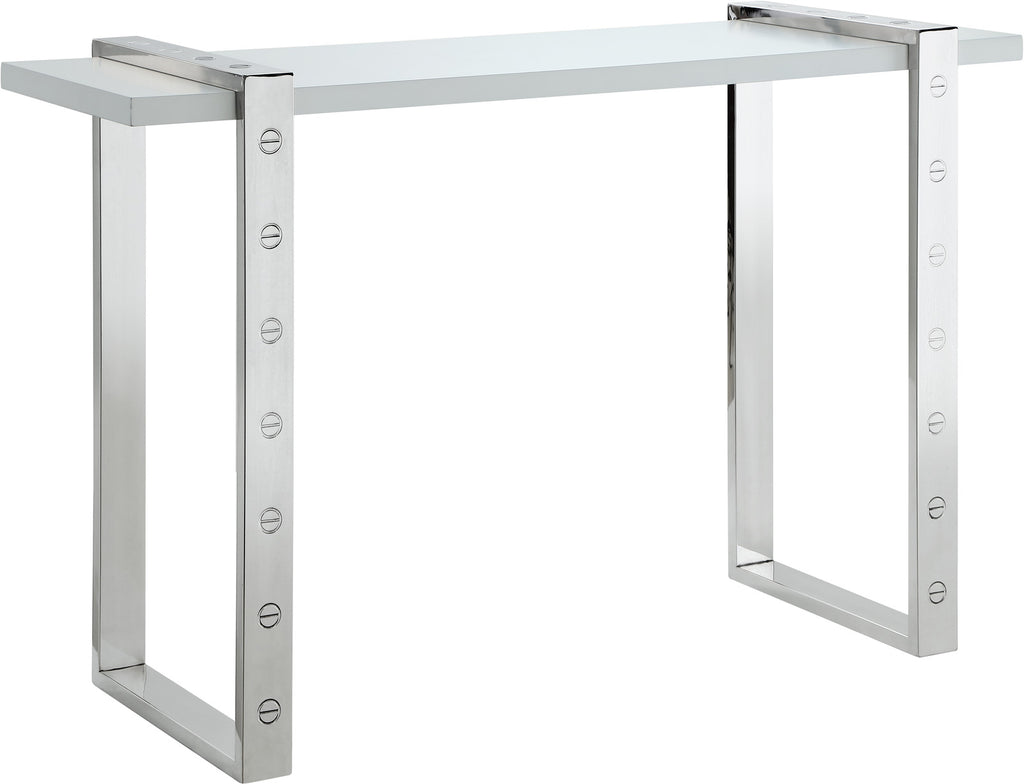 Meridian Furniture 271-S Amore Chrome Console Table 704831400243