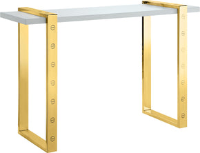 Meridian Furniture 273-S Amore Gold Console Table 704831400274