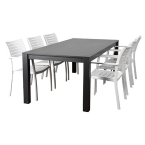 International Home Miami CALI_6PORTNEL Atlantic Noordam 7 Piece Rectangular Patio Dining Set