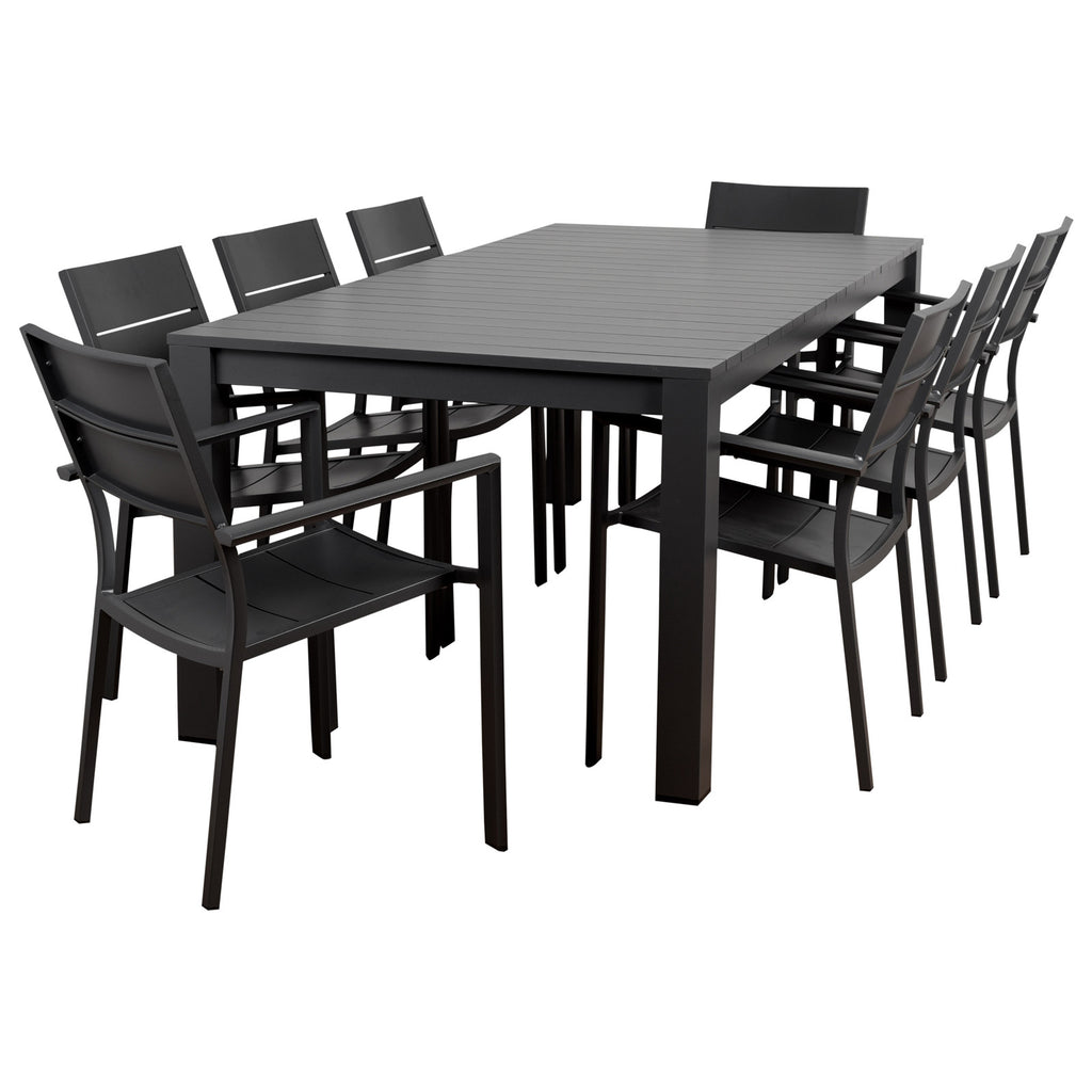 International Home Miami CALI_8CALIARM Atlantic Koningsdam 9 Piece Rectangular Patio Dining Set