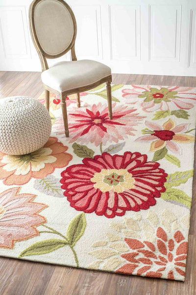 Nuloom Hand Tufted Palm Springs Pink Rug