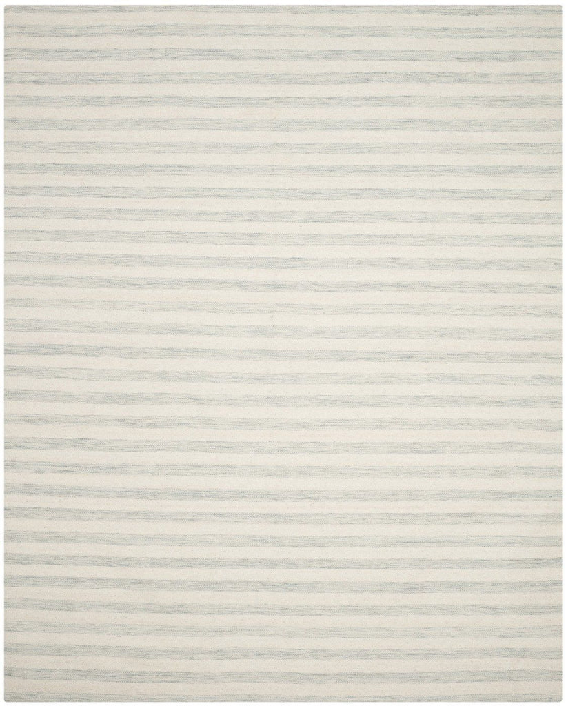 Dhurries Contemporary Indoorarea Rug Light Blue / Ivory
