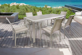 Vig Furniture VGEN3443-2314-GRY Renava Diego Outdoor Grey Dining Table Set