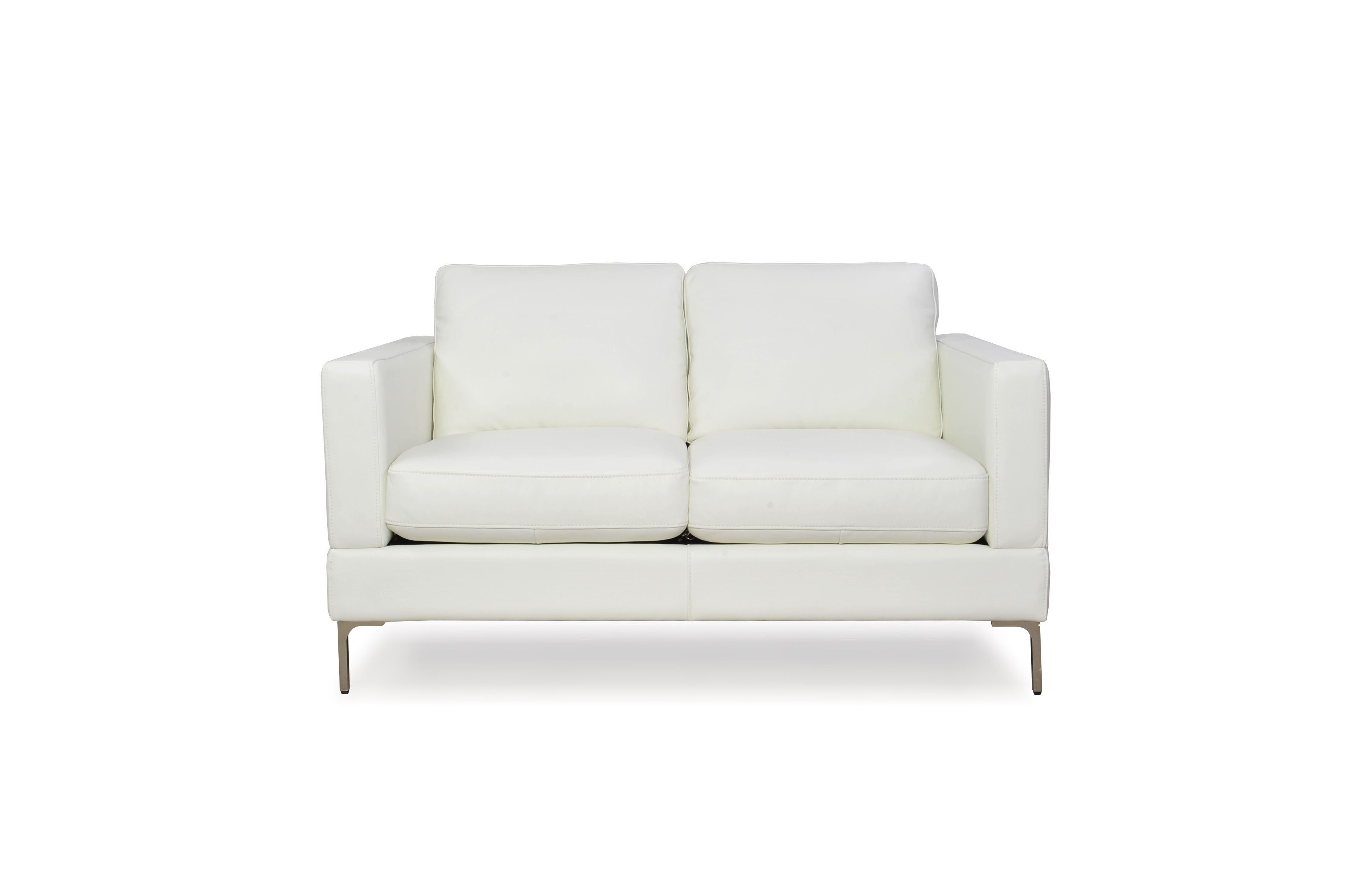 Buy Moroni 35102BS1296 Tobia Contemporary Loveseat Snow White at  Contemporary Furniture Warehouse