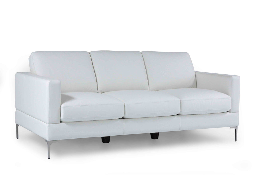 Moroni 35103BS1296 Tobia Contemporary Sofa Snow White