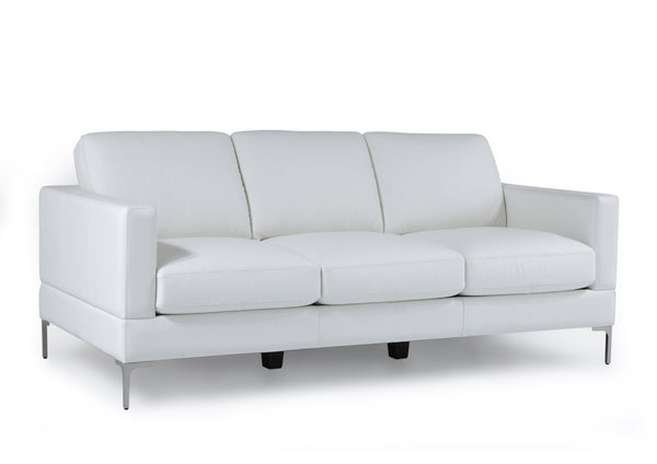 Tobia Contemporary Sofa Snow White