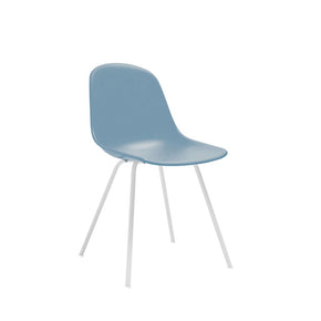 DesignLab MN LS-9442-SLAWHT Grazia Slate Mid Century Side Chair White Base Original Design (Set of 4) 646263991572