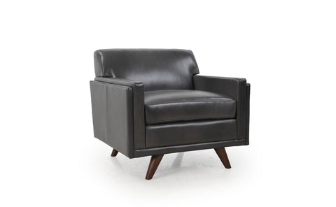 Moroni 36101BS1171 Milo Mid-Century Chair Charcoal