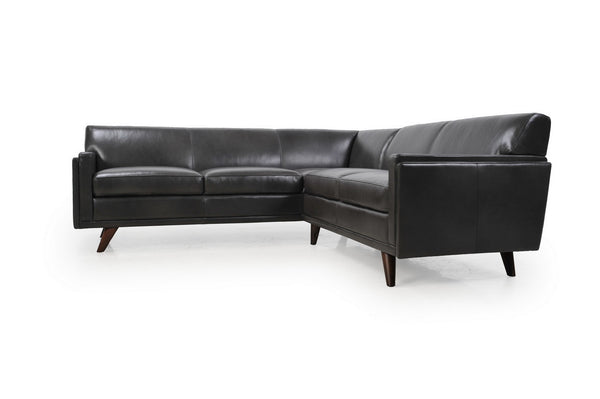Moroni 361SCBS1171 Milo Mid-Century Sectional 2pcs Charcoal
