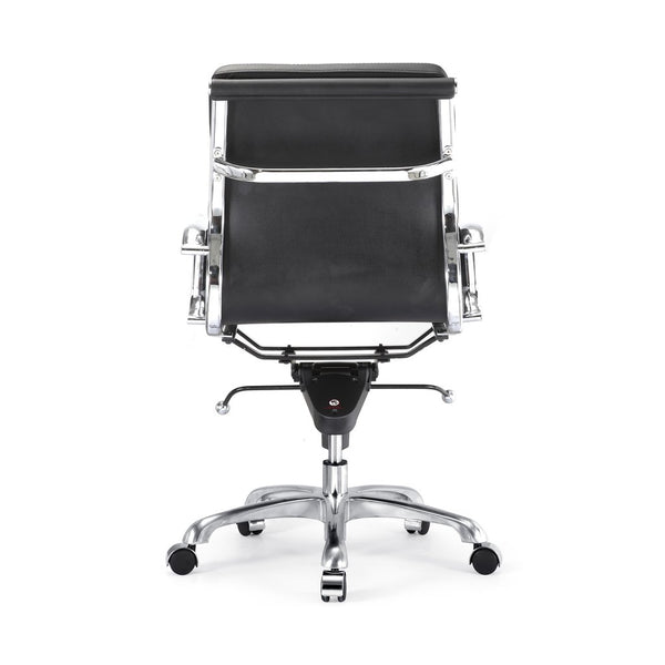 Office Chairs - Design Lab MN LS-0008-1-BLKCRM Century Black Padded Modern Classic Aluminum Office Chair | 655222620194 | Only $199.80. Buy today at http://www.contemporaryfurniturewarehouse.com
