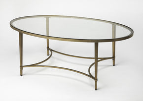 Butler Furniture 3802355 Monica Gold Oval Coffee Table 797379041009