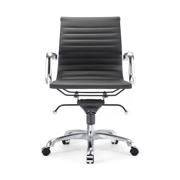 Office Chairs - Design Lab MN LS-0007-1-BLKCRM Century Black Modern Classic Aluminum Office Chair | 655222620149 | Only $179.80. Buy today at http://www.contemporaryfurniturewarehouse.com