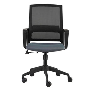 Livia Office Chair in Gray with Black Base