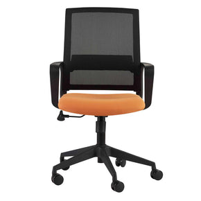 Office Chairs - Euro Style EURO-39001ORG Livia Office Chair in Orange with Black Base | Only $197.00. Buy today at http://www.contemporaryfurniturewarehouse.com