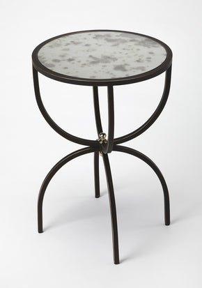Butler Furniture 3945025 Elon Metal & Mirror Side Table 797379040071