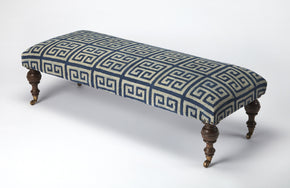 Butler Furniture 3960291 Anthora Greek Key Upholstered Bench 797379040149
