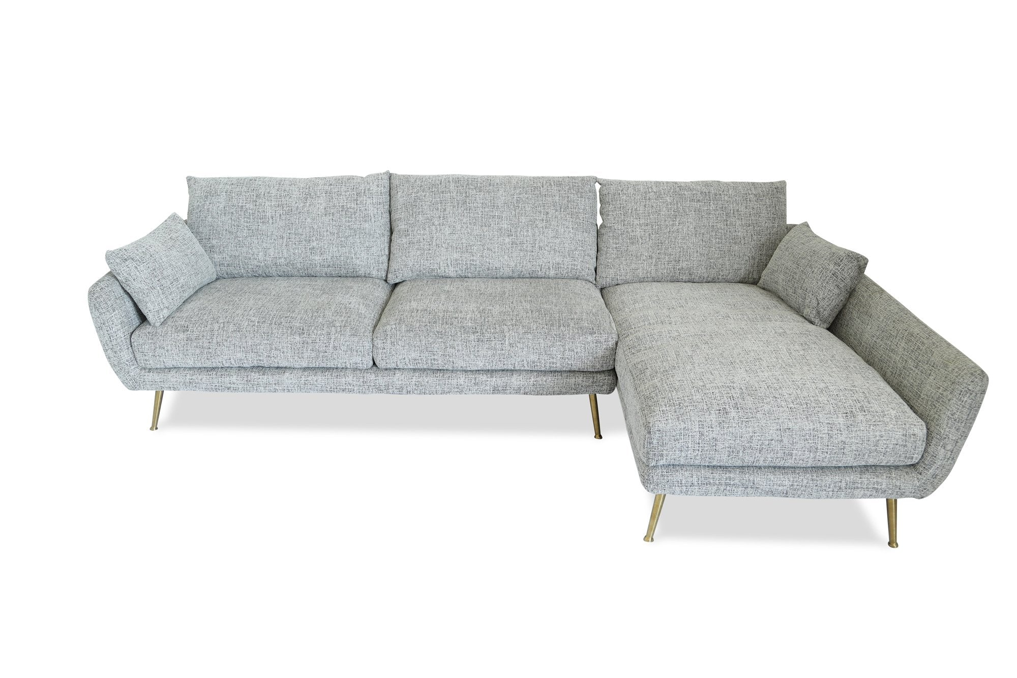 Buy Edloe Finch Ef Zx Sc002r Harlow Mid Century Modern Sectional Sofa Fulton Grey Right Facing At Contemporary Furniture Warehouse