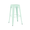 DesignLab MN LS-9100-MTLPEP Dreux Matte Mint Steel Stackable Barstool 30 Inch (Set of 4) 640746589430