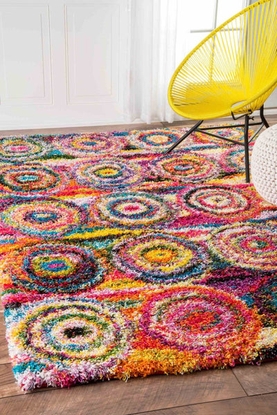 Buy Nuloom Ozxl02a 406 Nuloom Kindra Circles Shaggy Multi