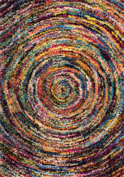 Nuloom Ardelle Swirl Shaggy Multi-Color Rug