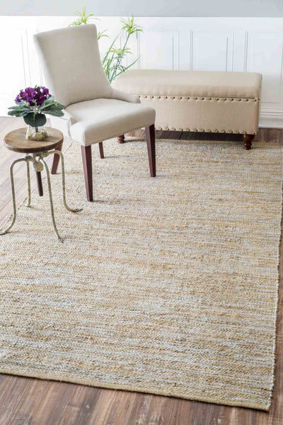 Nuloom Hand Woven Tarver Silver Rug
