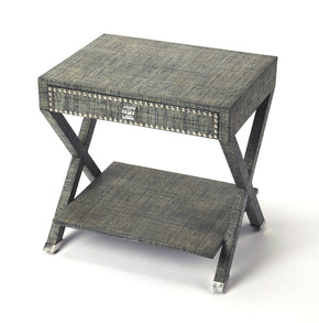 Butler Furniture 4329329 Benito Gray Raffia End Table 797379041627