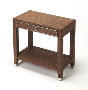 Butler Furniture 4330354 Bernardo Brown Raffia End Table 797379041634