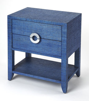 Butler Furniture 4357361 Amelle Blue Raffia End Table 797379043430