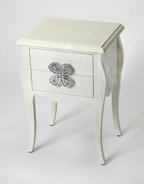 Butler Furniture 4366405 Felicia White Raffia End Table 797379043508
