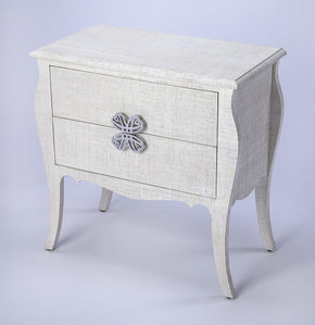 Butler Furniture 4367405 Felicia White Raffia Accent Chest 797379047032