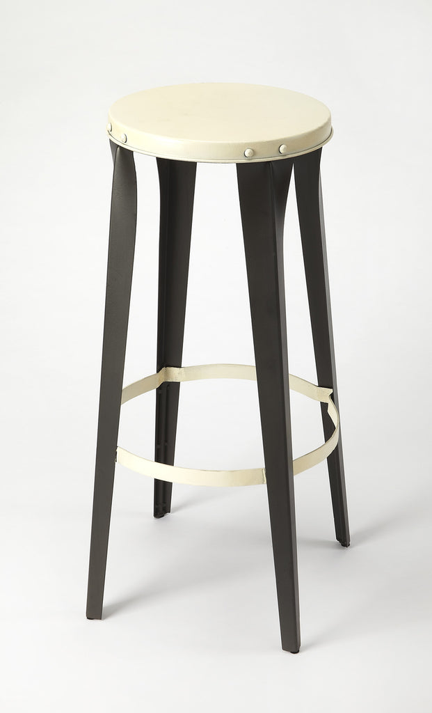 Peachy Ulrich Black White Backless Bar Stool Andrewgaddart Wooden Chair Designs For Living Room Andrewgaddartcom