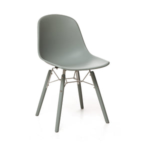 DesignLab MN LS-9444-MGRY Grazia Moss Grey Mid Century Side Chair PP Base Original Design (Set of 4) 655222620811