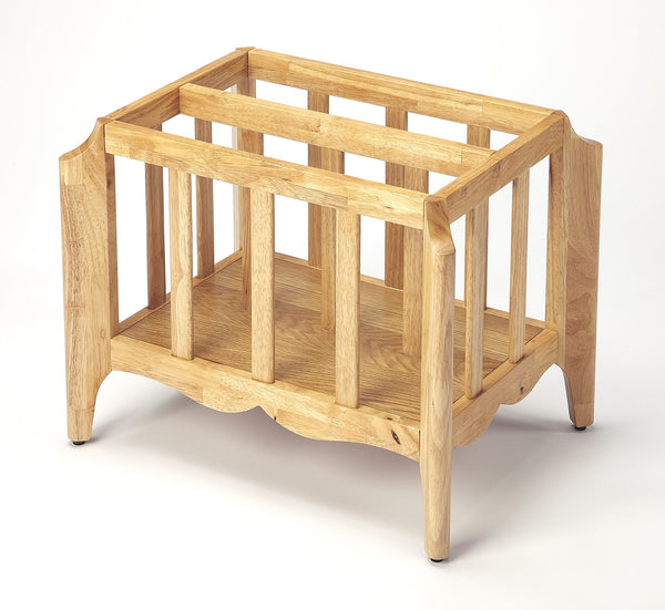 Butler Furniture 4471312 Wilshire Natural Mango Magazine Basket 797379045250