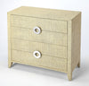 Butler Furniture 4483349 Amelle Cream Raffia 4 Drawer Accent Chest 797379047056