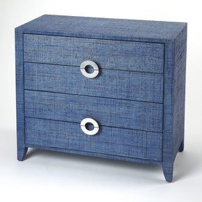 Butler Furniture 4483361 Amelle Blue Raffia Accent Chest 797379043591