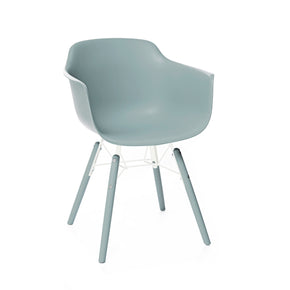 DesignLab MN LS-9344-IBLU Grazia Ice Blue Mid Century Arm Chair PP Base Original Design (Set of 4) 655222620781