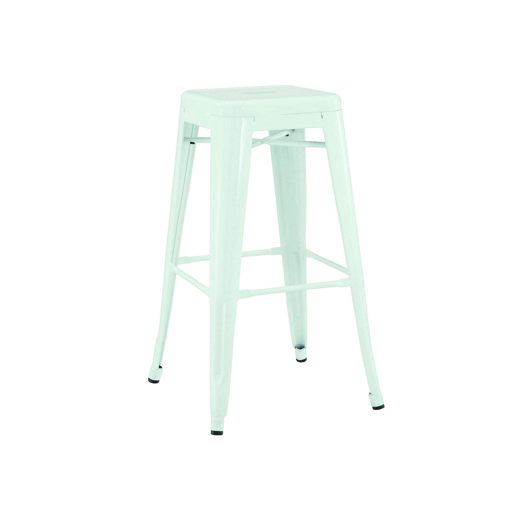 DesignLab MN LS-9102-MTLPEP Dreux Matte Mint Steel Stackable Counter Stool 26 Inch (Set of 4) 655222619723