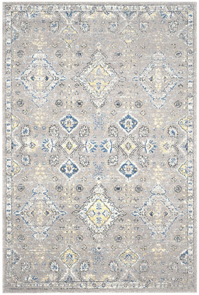 Evoke Traditional Indoor Area Rug Dark Grey / Yellow