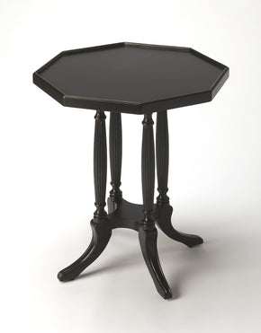 Butler Furniture 5015111 Adolphus Black Licorice Octagonal Accent Table 797379035145