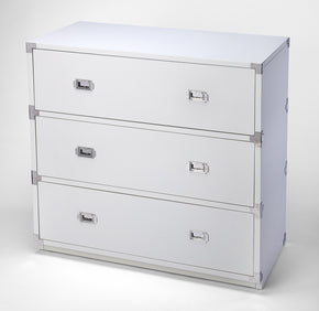 Butler Furniture 5256288 Anew White 3 Drawer Campaign Chest 797379046189