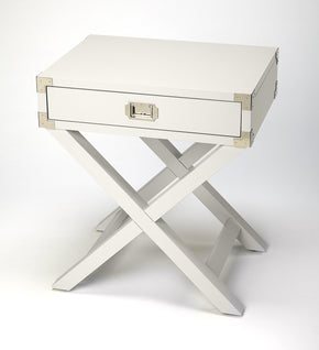 Butler Furniture 5258288 Anew White Campaign Side Table 797379046226